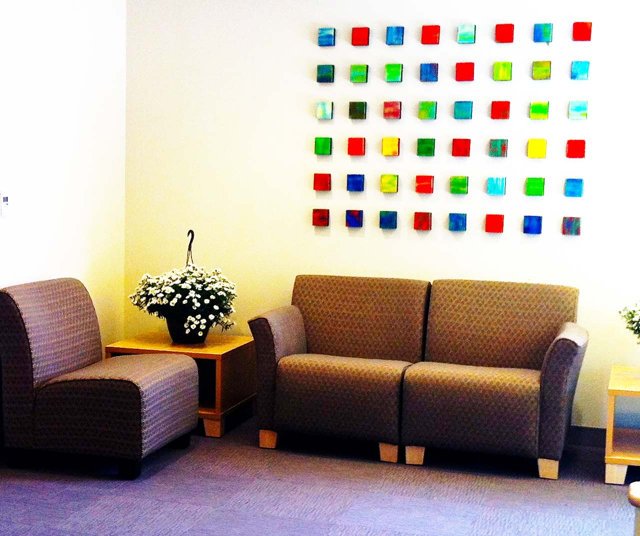 Waiting room art | Healthcare Art | Custom colorful wall sculpture | Rosemary Pierce
