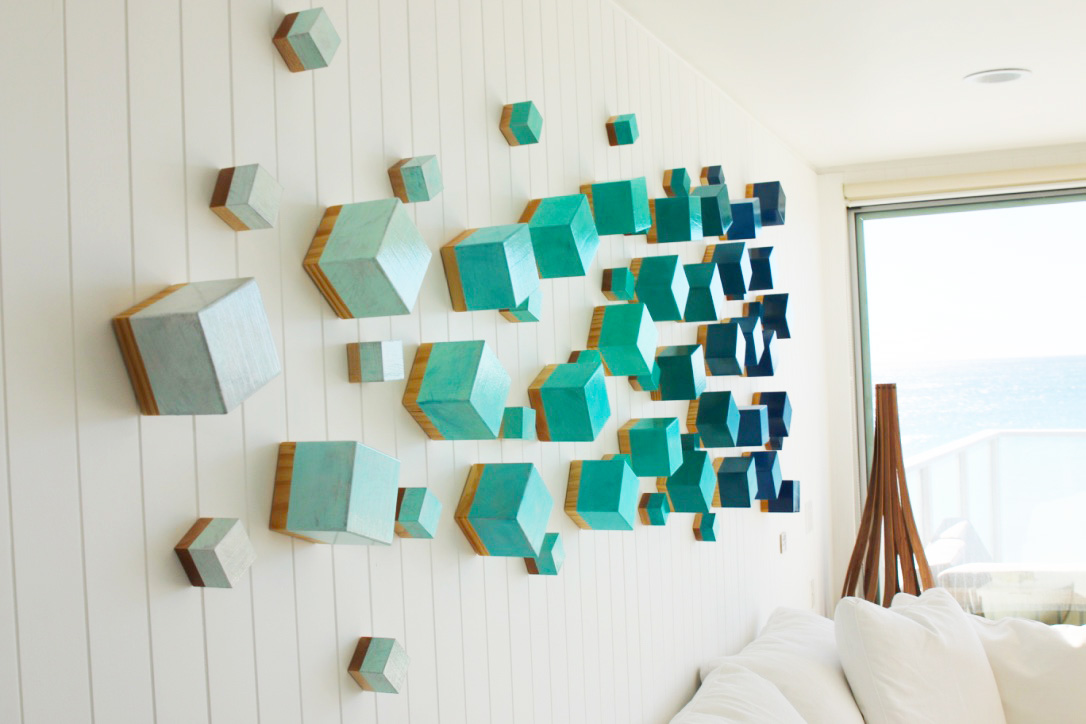 An original wood wall sculpture | Beach inspired contemporary wall art